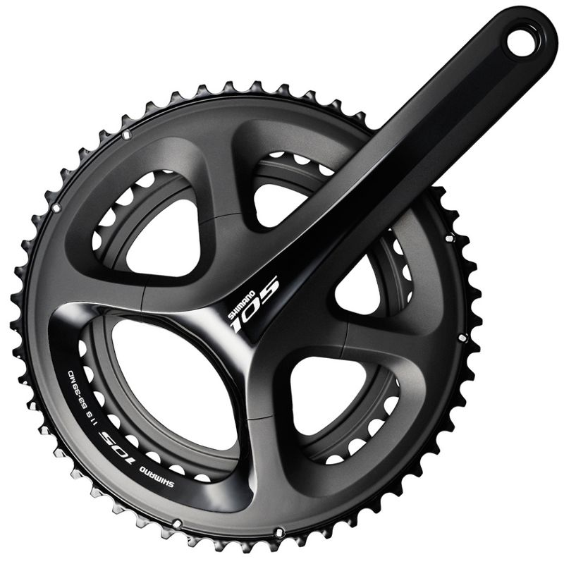 Shimano 105 5800 11 Speed Double Chainset Black
