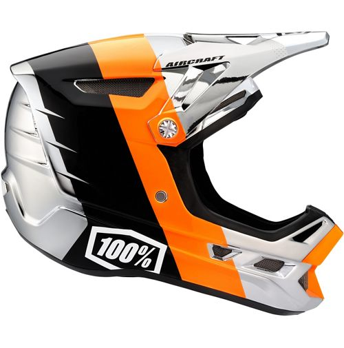 Picture of 100% Aircraft DH Helmet - R8 Chrome