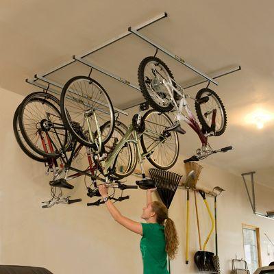 soporte para colgar bicicletas del techo saris parking glide