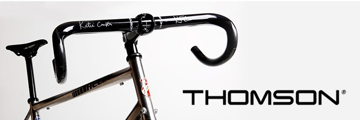 """4/"""" Thomson MTB Seat Stem Alloy ride decal bicycle race pedal STICKER DECAL"""