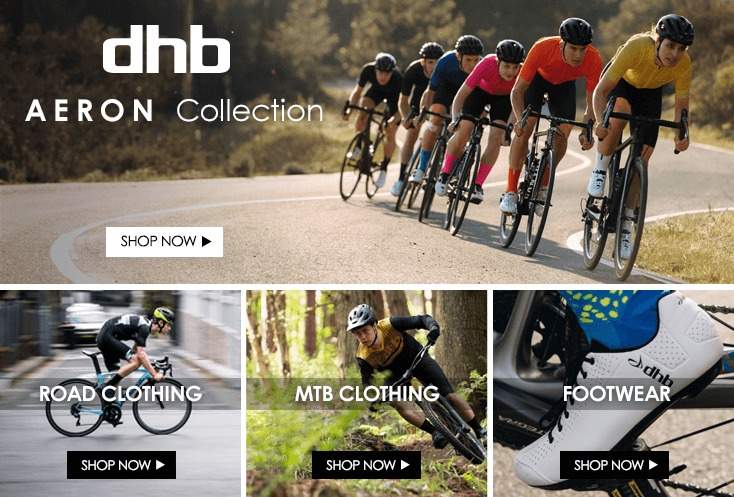 1f5700b1 A photo of cyclists on a sunny twisting road wearing matching dhb summer  cycle kit and