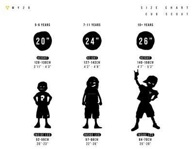 Cub-Scout Size Chart