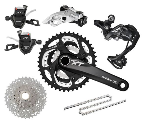 Shimano XT M780 Triple Drivetrain Groupset | Chain Reaction