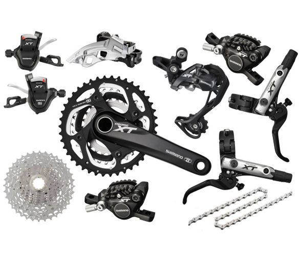 f5e1498985f Shimano XT M782 10sp Complete Triple Groupset | Chain Reaction Cycles