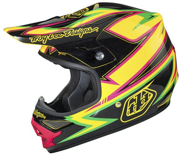 Casque Motocross Troy Lee Designs Air Charge Jaune Chain
