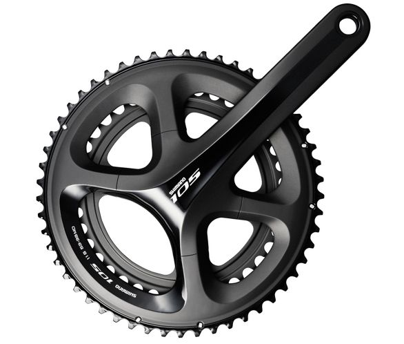 05cdef8814e Shimano 105 5800 11 Speed Double Chainset Black. 4.8 / 5. Read all 67  reviews Write a review. View Images. View 360