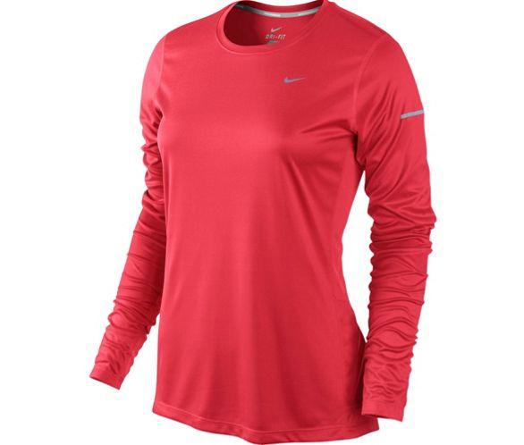 obtener online estética de lujo nueva especiales Camiseta de manga larga de Mujer Nike Miler AW14   Chain ...