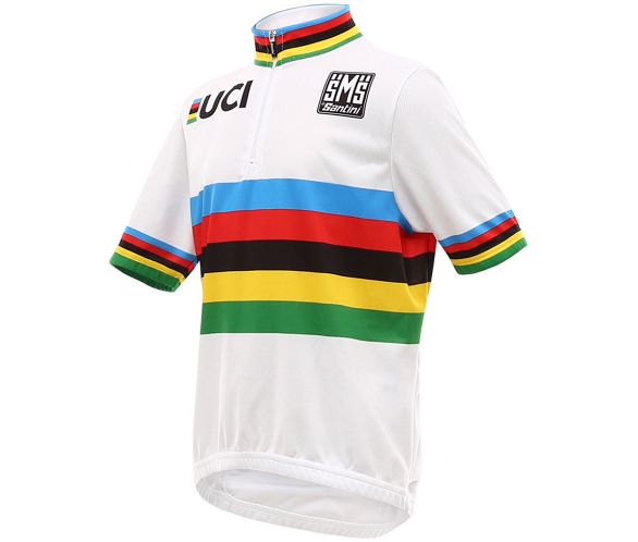 844f03c5 Santini UCI World Champ Jersey Kids 2016 | Chain Reaction Cycles