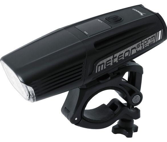 Moon Meteor 200 Lumen USB Rechargeable Bright Bicycle Headlight– Black