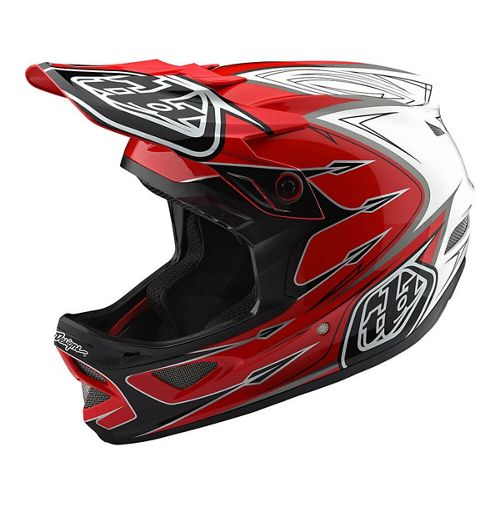 Troy Lee Designs D3 Composite Helm (Corona rot/weiß) 2018 | Hjelme