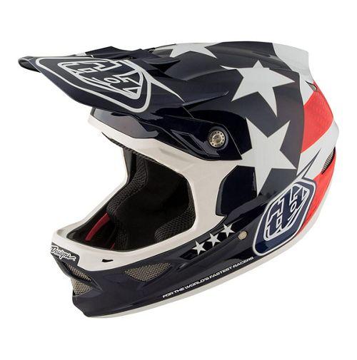 Troy Lee Designs D3 Carbon MIPS Helm (Freedom Blue) 2018 | Hjelme