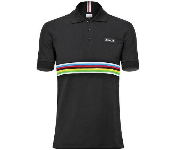 Santini UCI Short Sleeve Cotton Polo Shirt. Featuring the World Champ ... c7bbead7c