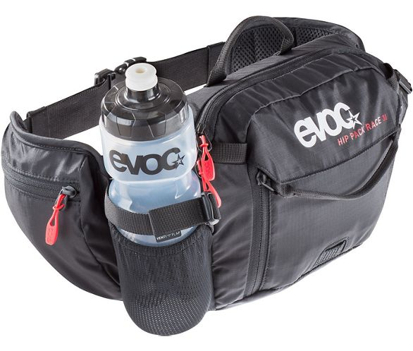 Black 3L with 1.5L reservoir EVOC Hip Pack Race