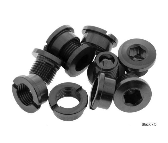 Black Brand-X Outer Ring Bolts Narrow 7075 Alloy