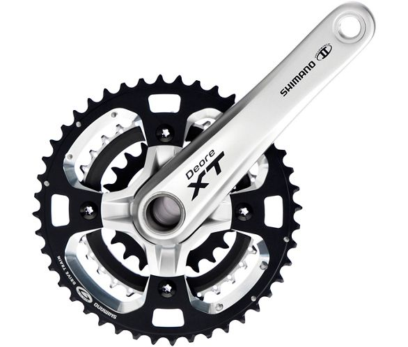 901709756b Shimano XT M770 Triple 9 Speed Chainset   Chain Reaction Cycles