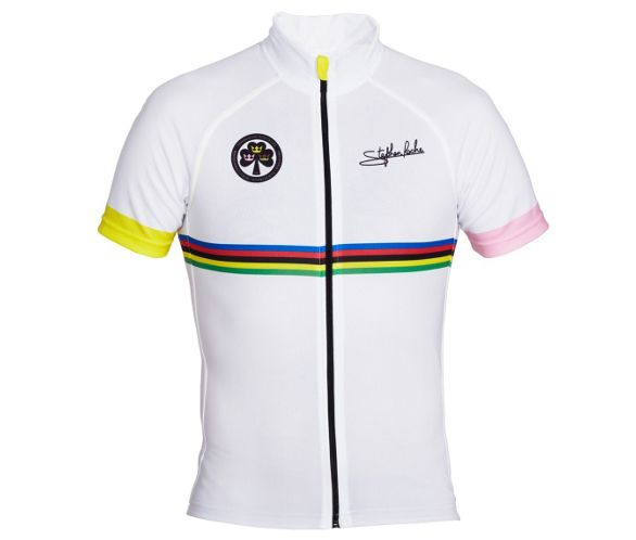 7178d6dfd Stephen Roche Printed Anniversary Jersey in White