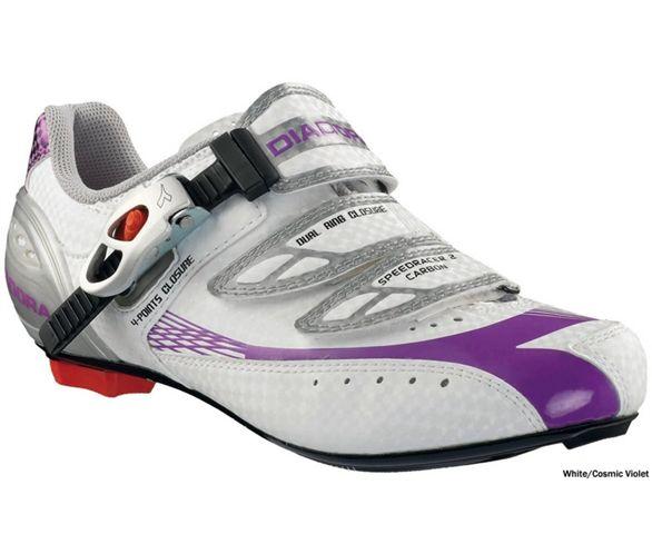 Dettagli su Scarpa da Ciclismo Donna SPEEDRACER 2 W CARBON Diadora